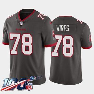 Tampa Bay Buccaneers Tristan Wirfs Gray Jersey